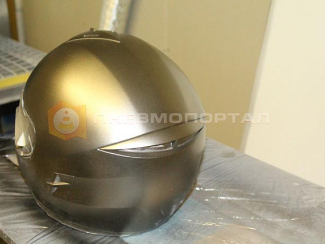 Преобразили мото шлем