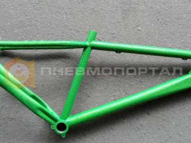 Покрасили велосипедную раму