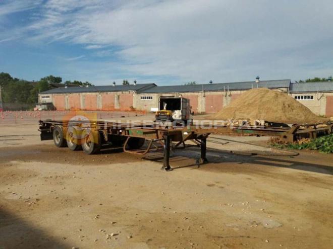 Обработали пескоструем раму прицепа грузового автомобиля