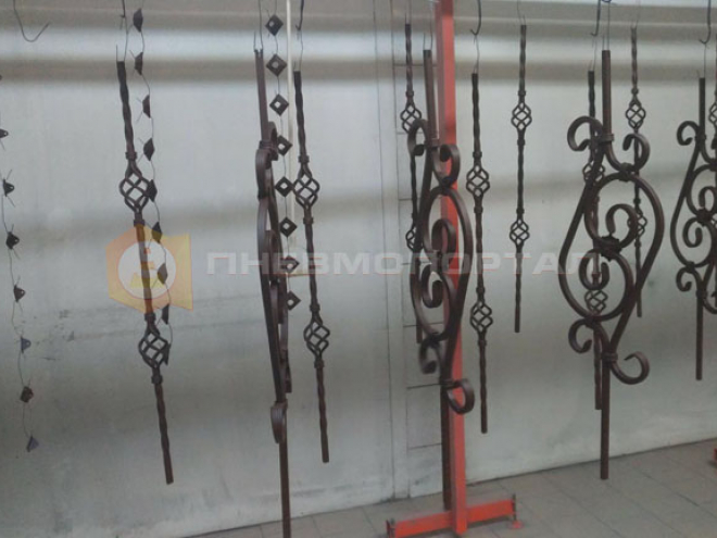 Окрасили кованые изделия с применением технологии порошковой покраски