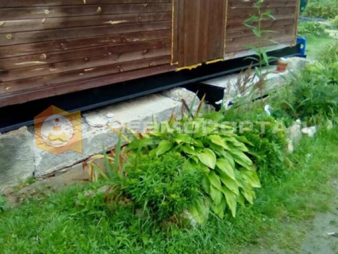 Демонтировали фундамент в Серпуховском районе