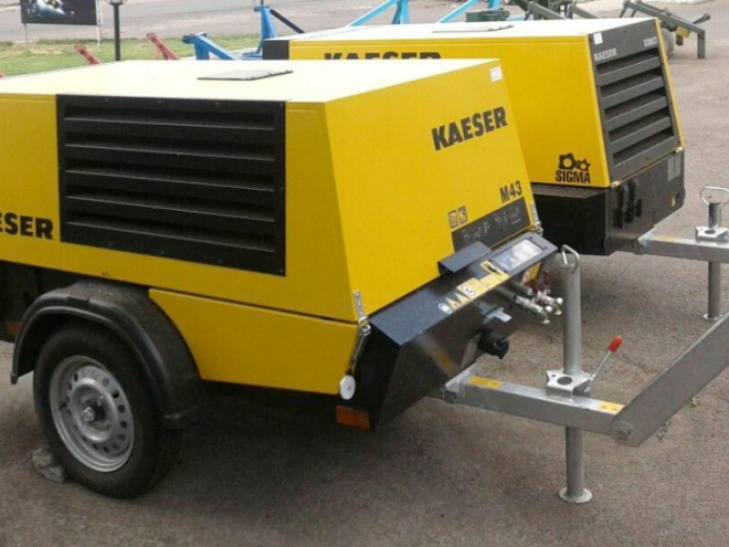 Аренда компрессора Kaeser M43 для демонтажа столбов освещения