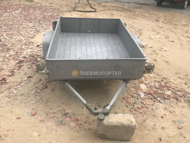 Пескоструйная обработка автомобильного прицепа в Жуковском