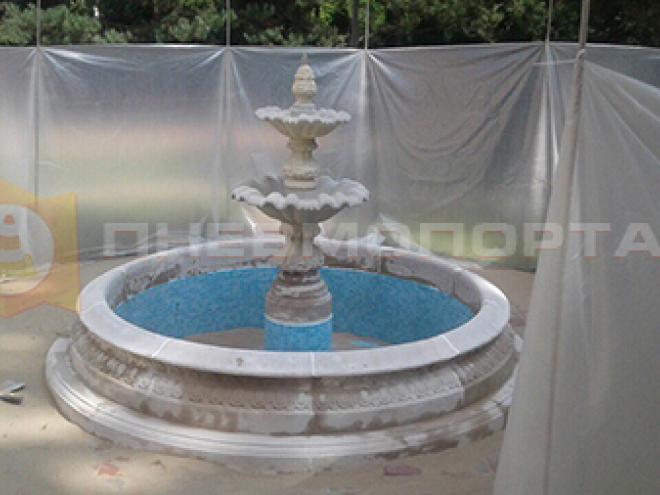 Пескоструйная очистка фонтана