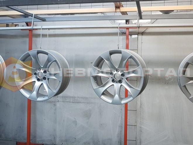 Порошковая покраска легкосплавных дисков для автомобиля марки БМВ