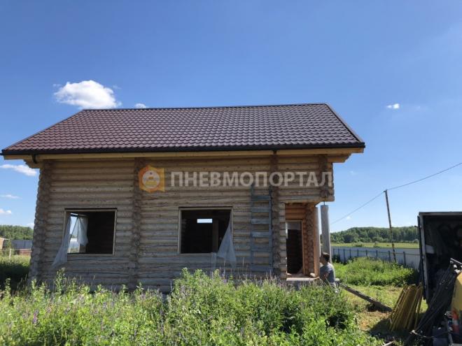 Пескоструйная обработка деревянного дома с выездом в Воскресенский район, д. Барановское