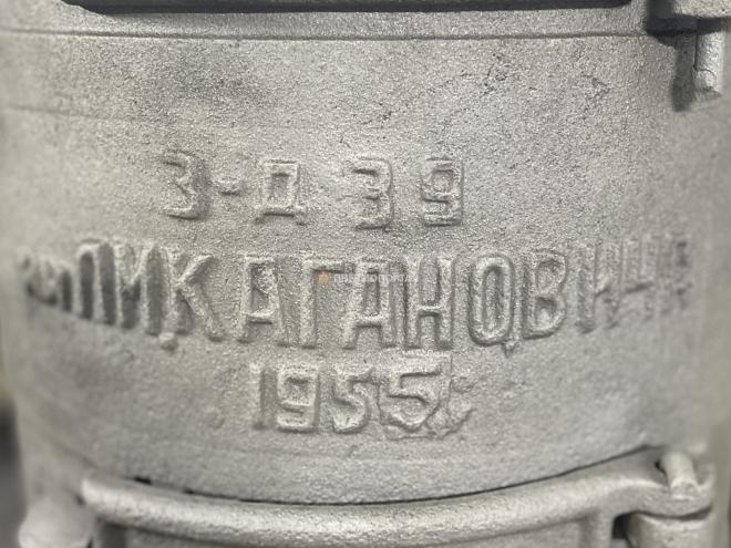 Дробеструйная обработка печки «Буржуйка» 1955 года выпуска