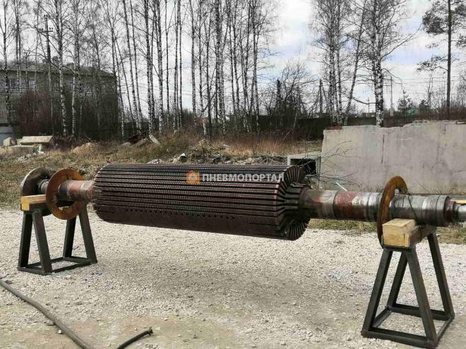 Пескоструйная обработка ротора генератора в г. Киржач