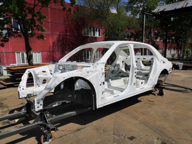 Пескоструйная обработка кузова автомобиля Aurus