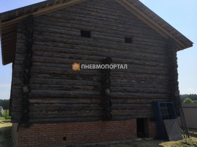 Пескоструйная шлифовка дома в Орехово-Зуевском районе, д. Федорово