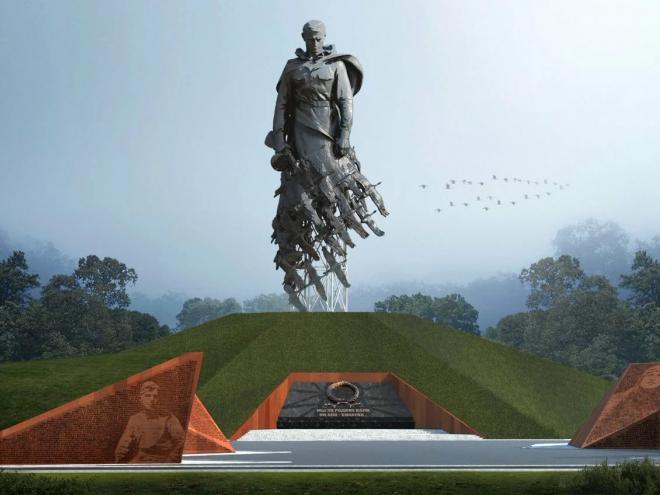 Пескоструйная обработка памятника в городе Ржев