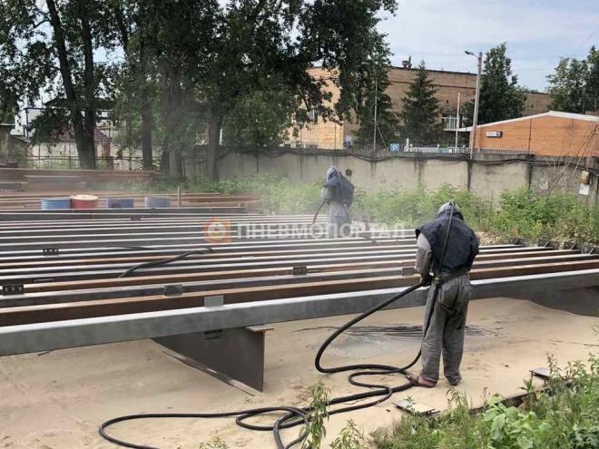Пескоструйная обработка металлоконструкций для пешеходных переходов в Одинцово