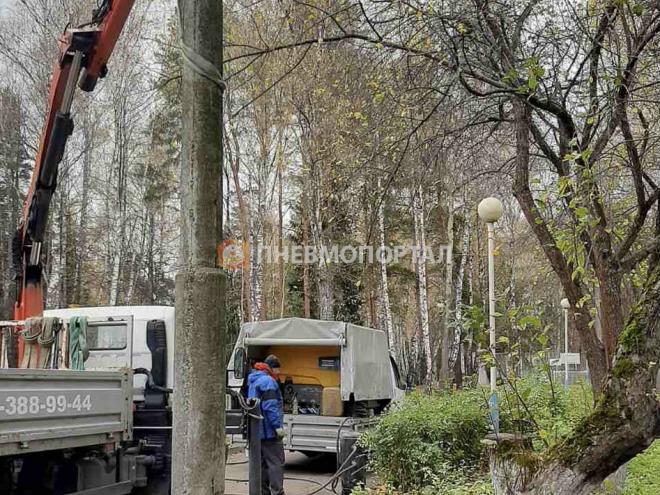 Демонтаж бетонных столбов с утилизацией в Домодедовском районе