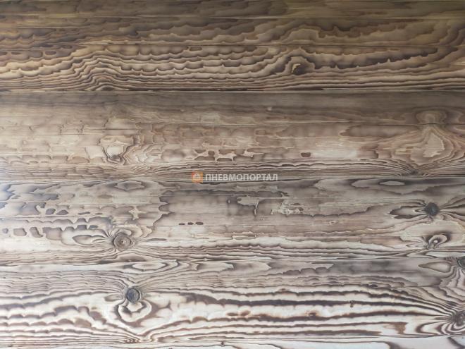 Пескоструйная очистка дома после пожара Орехово - Зуевский район, д. Авсюнино